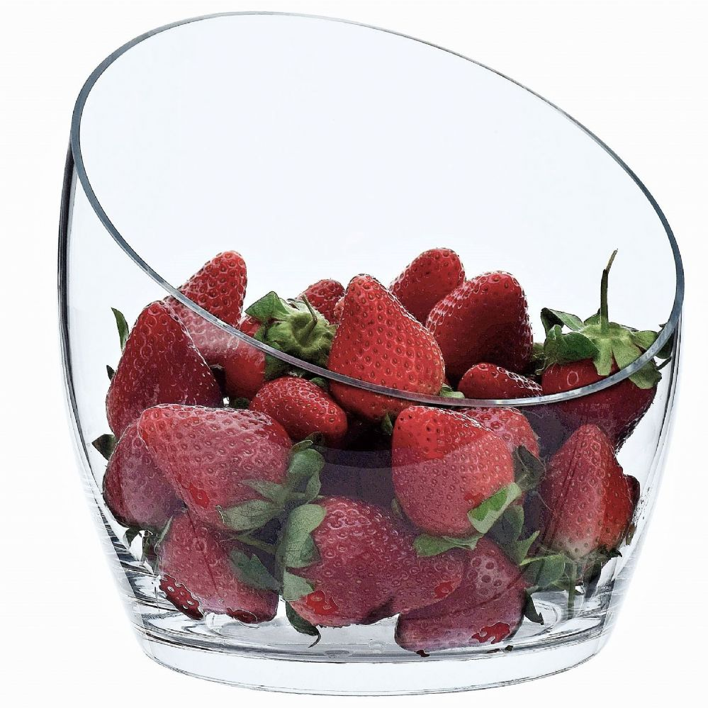 Glass Slant Fruit Bowl, Solavia Glassware